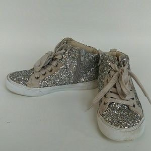 Gap Kids Sparkly High Top Sneakers Sz 13